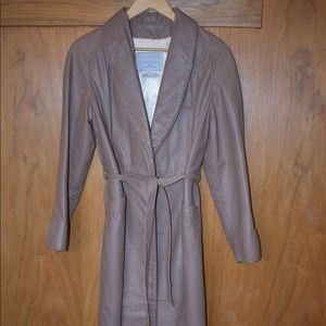 Vintage Tan Leather Coat